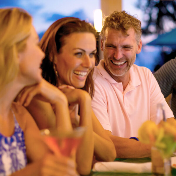 Meet friends or hang with someone special at poolside Tipsy Turtle Bar for cold drinks, snacks, or sunset on the upper deck